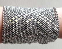 White Metal Wrap Bracelet - Gift for Her - Intricate Design - Indian Jewelry