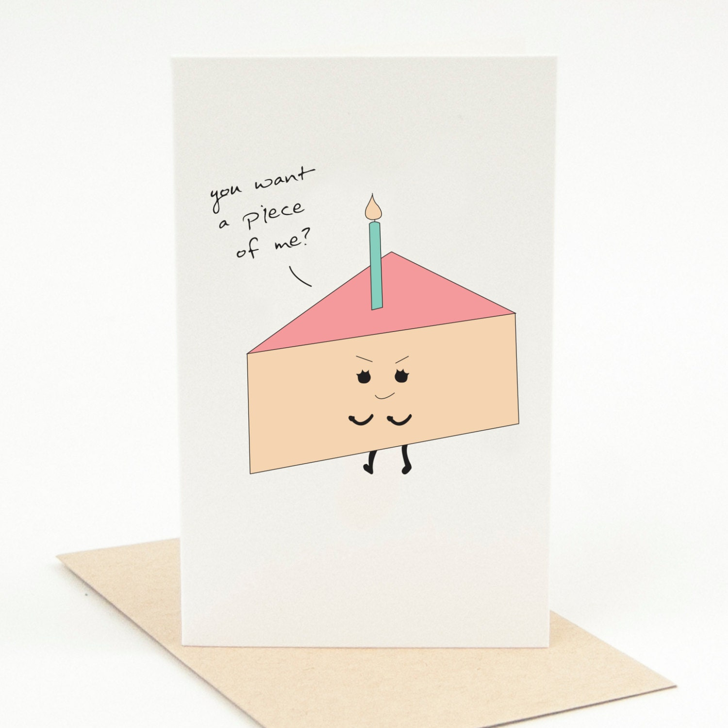 Printable Happy Birthday Card You Want A Piece