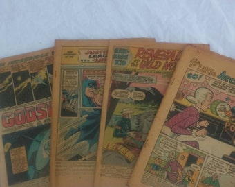 FOUR vintage comics, no covers, perfect for crafts