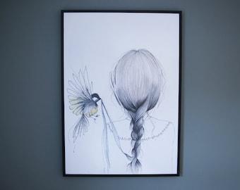 Bird Love Print - A2