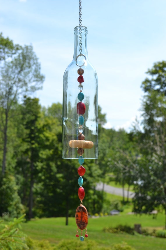 Wine Bottle Wind Chime Turquoise Amp Red Wind By