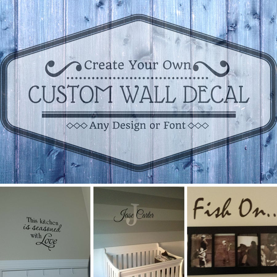Custom wall decal wall art wall mural create your own for Create your own mural