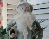 Decorative Santa Candy Container - Antique Style- Handmade