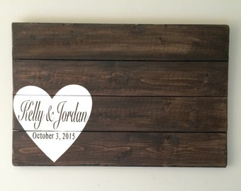 Wood Wedding Sign, wedding sign, Wood guest sign, wedding keepsake