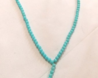Neon beads necklace with neon bead pendant