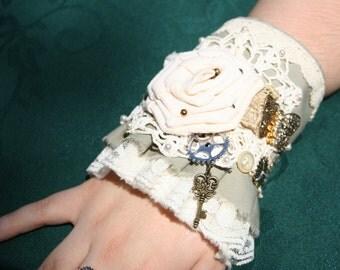 OOAK Romantic Victorian Steampunk Wristcuff