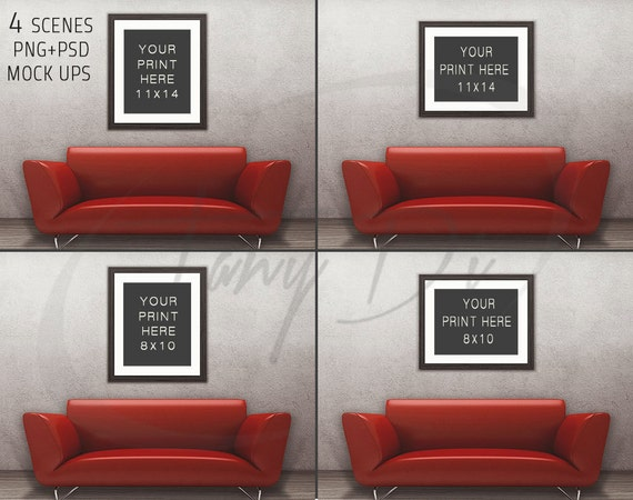8x10 11x14 living room 1 red sofa wall by tanydidesignstudio for 11 x 14 living room