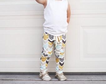 Organic Cotton Arrow Print Baby Leggings