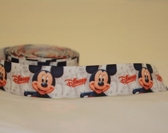 "Mickey Mouse grosgrain ribbon - 7/8"" - 1.20 per yard"
