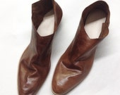 The Terilyn GAB ~ Handmade to Order~ LIMITED EDITION Gloss Antique Brown Gloveskin Leather ankle boot~ size 34-42