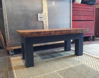 Coffee table reclaimed wood grey
