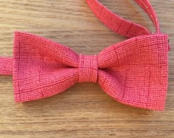 Bow Tie, Bowtie, Boys Bowtie, Salmon Bowtie, Coral Bowtie, Pink Bowtie