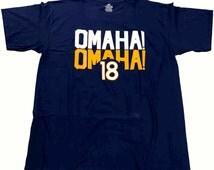 Peyton Manning T shirt! Omaha 18!