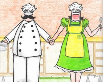 Chef Couple print