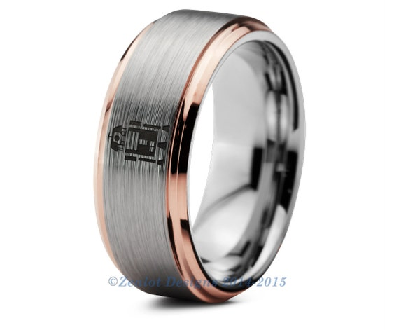 Star wars r2d2 tungsten wedding band ring mens by for Star wars mens wedding ring