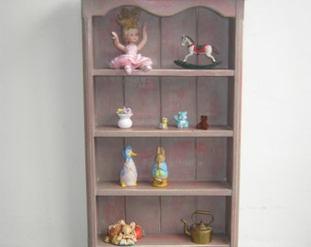 Handmade wooden Trinket Shelf unit painted in Annie Sloan Chalk paint