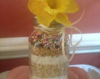 Oatmeal Raisin Crisp Cookie in a Jar