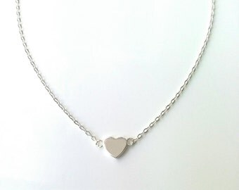 Heart necklace / silver 925/000 / silver necklace 925 - small heart, love symbol - Necklace silver 925