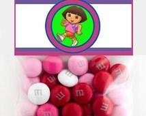 Dora Explorer 3 Inch Party Favor Toppers – Digital Download – Candy Bag Toppers - Dora Explorer Party