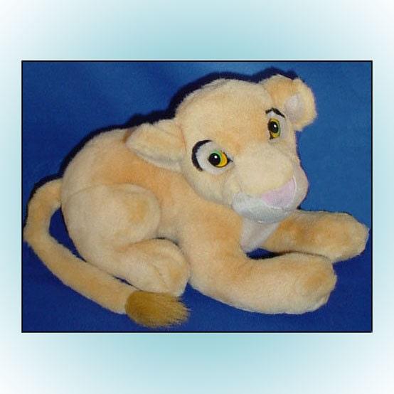 Disney Lion King Plush Nala Vintage Lion Cub Stuffed Animal
