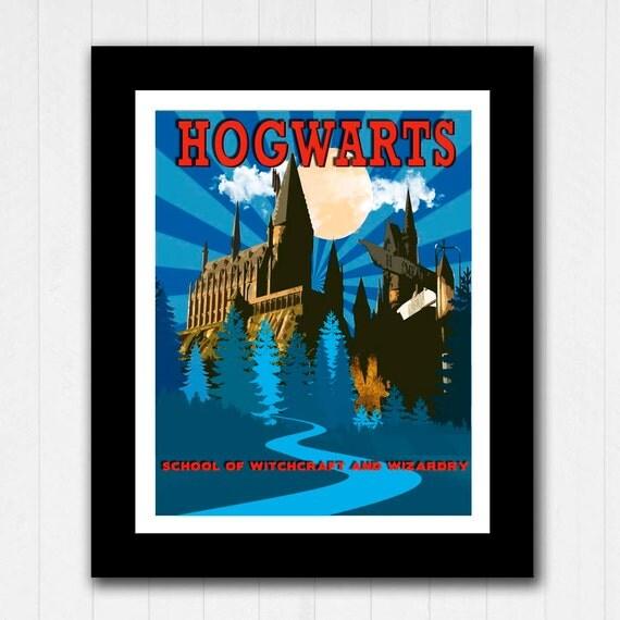 Hogwarts Harry Potter Minimalist Poster Buy 2 By RoseandElaine