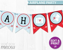 Unique Airplane Bunting Related Items Etsy