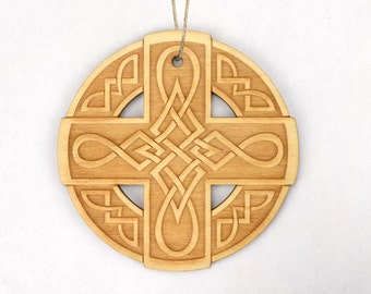 Celtic Cross (#2) Christmas Ornament
