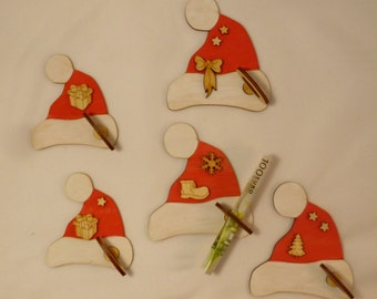 Christmas hats 5 piece with Bill holder