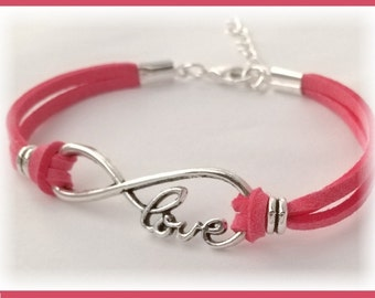 Love infinity bracelet, wedding bridesmaid gift, silver infinity for women, eternal love and friendship, popular infinity bracelet
