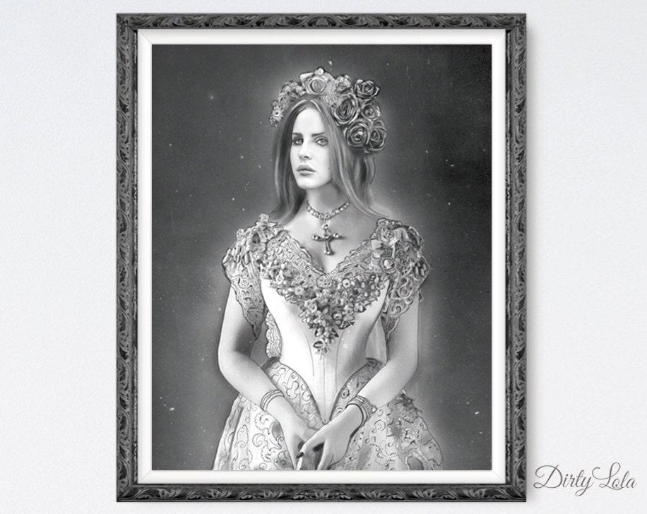 lana del rey art print - photo #32
