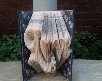 Folded Book Love with Heart