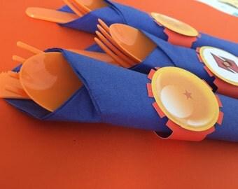 Dragon ball z napkin rings (12pc)