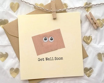 Get Well 'Band Aid' Greetings Card