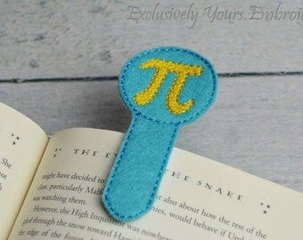 Pi Symbol Bookmark
