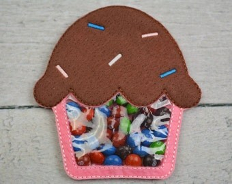 Large Cupcake Candy Pouch