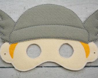 Thunder Hero Children's Felt Mask  - Costume - Theater - Dress Up - Halloween - Face Mask - Pretend Play - Party Favor