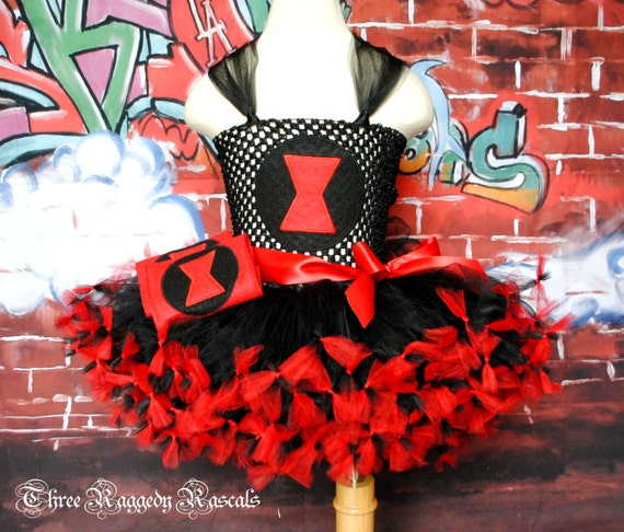 Avengers Black Widow Tutu Dress available via ThreeRaggedyRascals