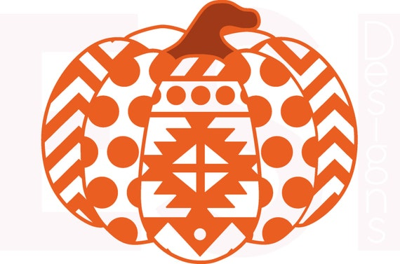 Pumpkin svg dxf eps aztec polka dot and chevron pattern for Striped and polka dot pumpkins