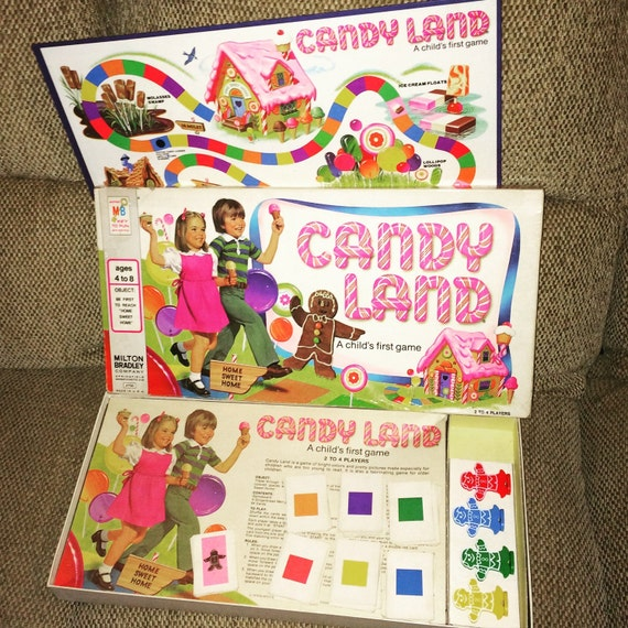 1978 Candy Land by Milton Bradley - Board Game - Contains ALL Pieces