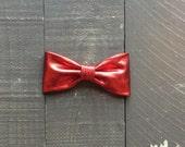 Red Metallic Bow