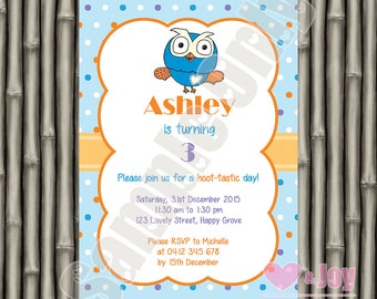 Giggle and Hoot Invite, Hoot Invitation, Hoot Invite, Owl, 1st Birthday Invitation, 2nd Birthday, 3rd, 4th, 5th, 6th, PRINTABLE