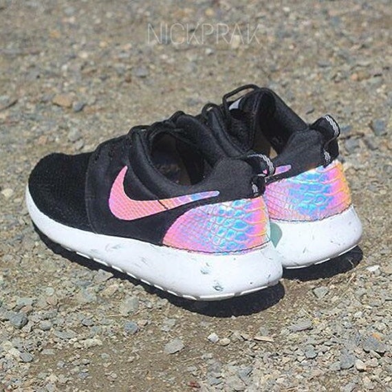 ywfer Items similar to Iridescent Python Custom Nike Roshe One on Etsy