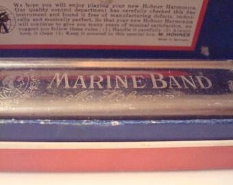 Vintage Hohner Marine Band No. 364 Harmonica