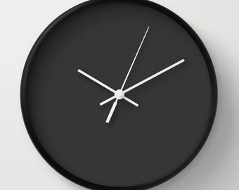 Modern Clock, Modern Wall Clock, Modern Clock, The Modern Clock, Black and white clock, modern striped clock, modern wall clock