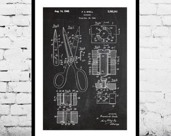 Scissors Print, Scissors Poster, Scissors Patent, Scissors Decor, Scissors Wall Scissors Art, Scissors Blueprint, Scissors Art