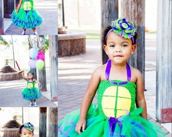 TMNT turtle tutu dress, Donatello tutu dress, teenage mutant ninja turtle dress