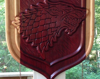 Game Of Thrones-House Stark Dire Wolf Shield