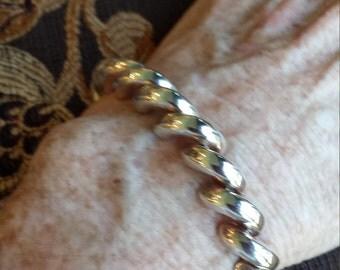 Sterling silver rope twist bracelet