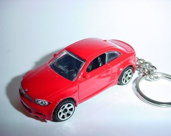 3D BMW M1 custom keychain by Brian Thornton keyring key chain finished in red color trim one series