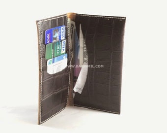Leather Phone Wallet, Large Leather Wallet, Phone Case, Leather Phone Pouch, Phone Wallet with ID Holder, Six Slots Leather Wallet.